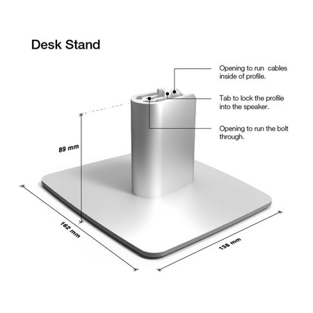 Dynaudio Xeo Desk Stand (set)