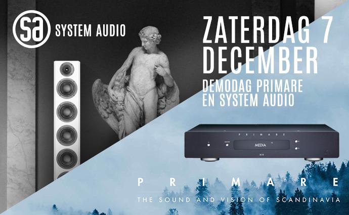 Zaterdag 7 december: Primare en System Audio bij Wifimedia