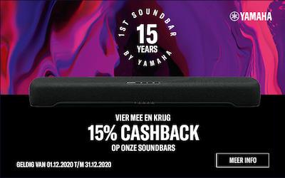 Cashback actie Yamaha soundbars
