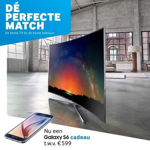 Samsung Galaxy S6 Cadeau t.w.v. 599 euro bij aankoop van een Samsung TV!