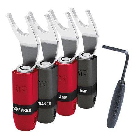 AudioQuest SureGrip 300 Multi-Spade Zilver (set van 4)