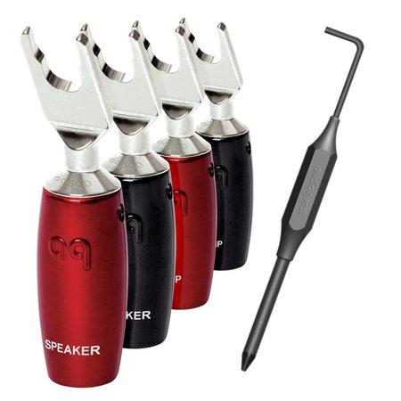 AudioQuest 500 Series Multi-Spade Zilver