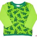 Langarmshirt, Buntes Langarmshirt, Krokodil grün, Gr. 74, 80, 86, 92, 98, 104, 110, 116