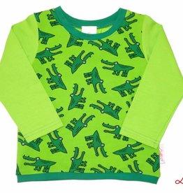 Langarmshirt, Krokodil grün, Gr. 74, 80, 86, 92, 98, 104, 110, 116