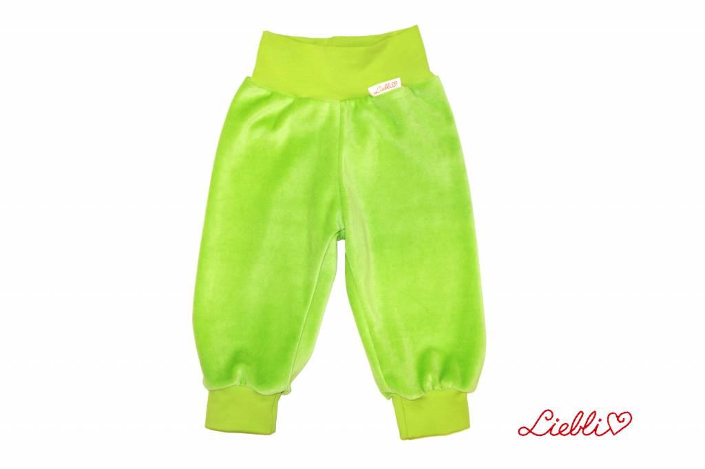 Kinderhose aus Baumwoll-Nicki, apfelgrün