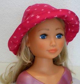 Jersey Mädchen-Sonnenhut Sterne pink