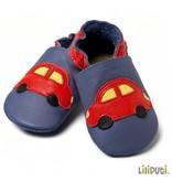 Liliputi Lederpuschen Auto blau rot