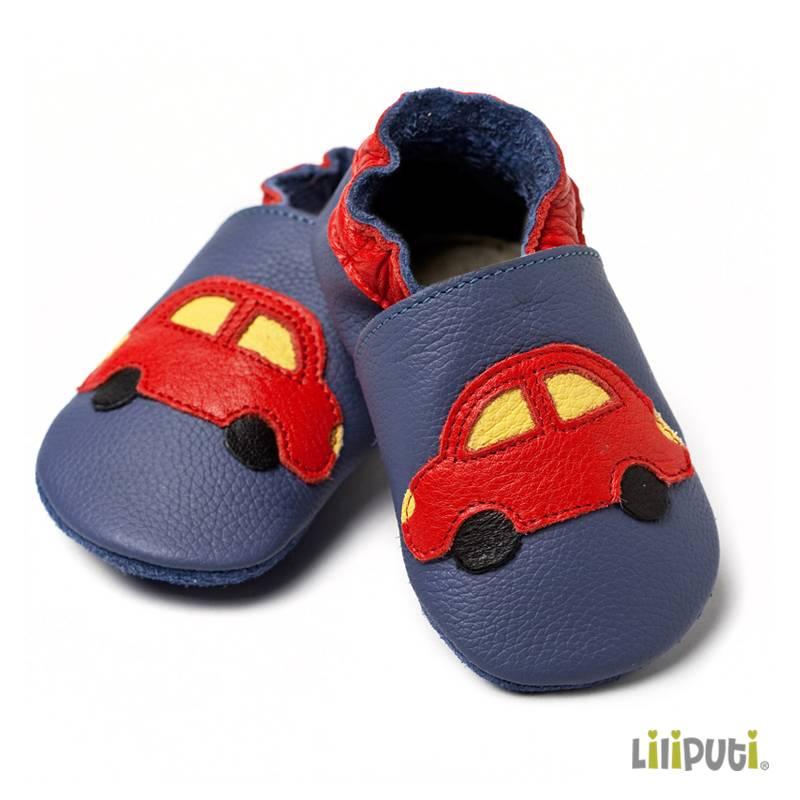 Liliputi Lederpatschen Auto blau rot