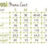 Premium 4 in 1 (!) Tragemantel von Liliputi in olivgrün, für Schwangerenbauch, vorne/hinten tragen, und auch  danach. Die bunte Taschenöffnungen sind zuklappbar.