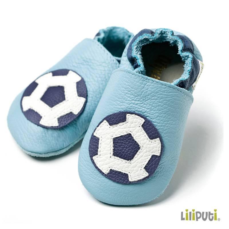 Liliputi Lederpatschen Fußball hellblau