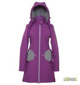 4 in 1 (!) Tragemantel von Liliputi, violett-grau