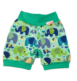 Bunter Short, Elefanten grün