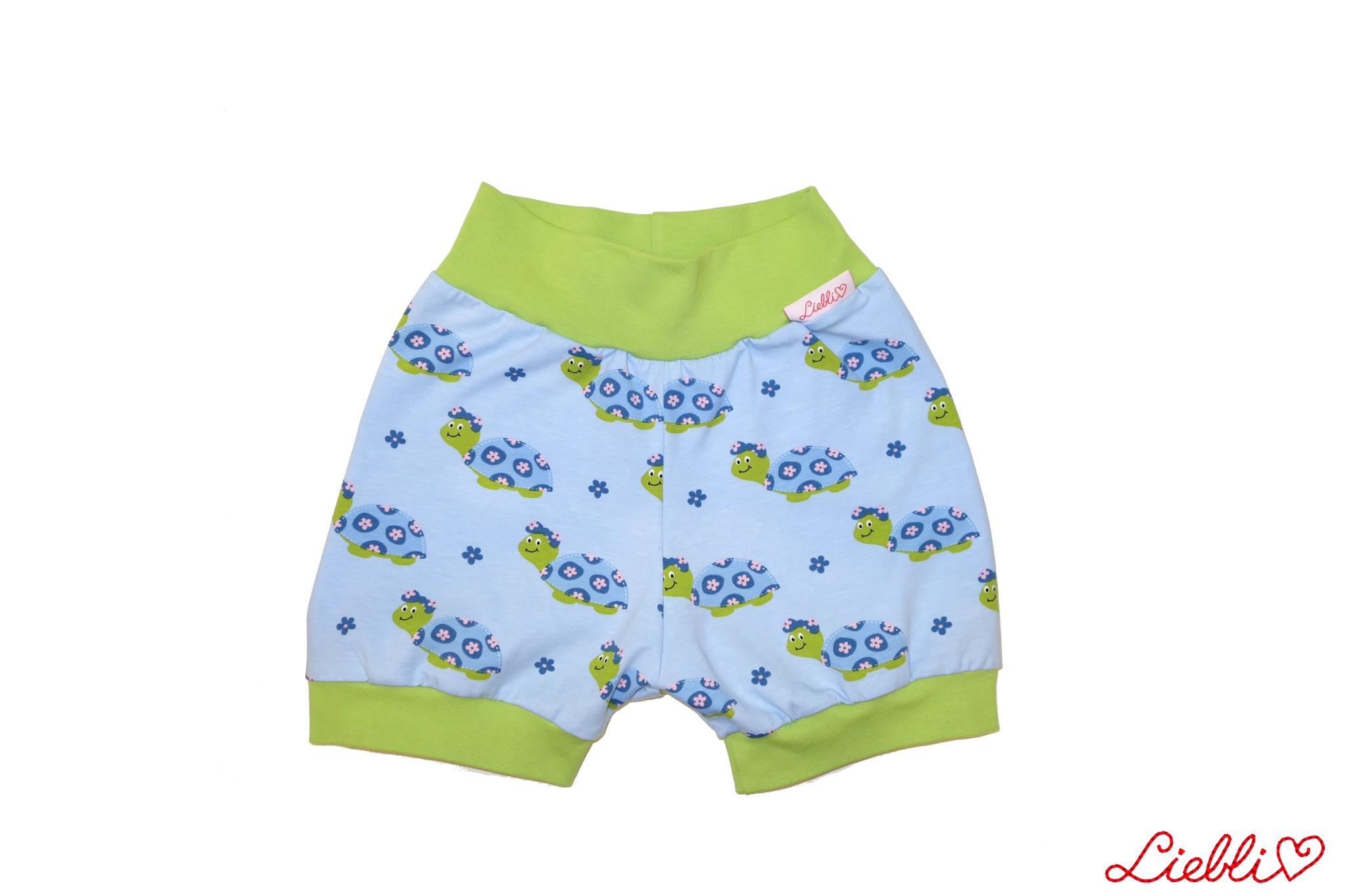 Bunter Short, Schildkröten auf hellblau