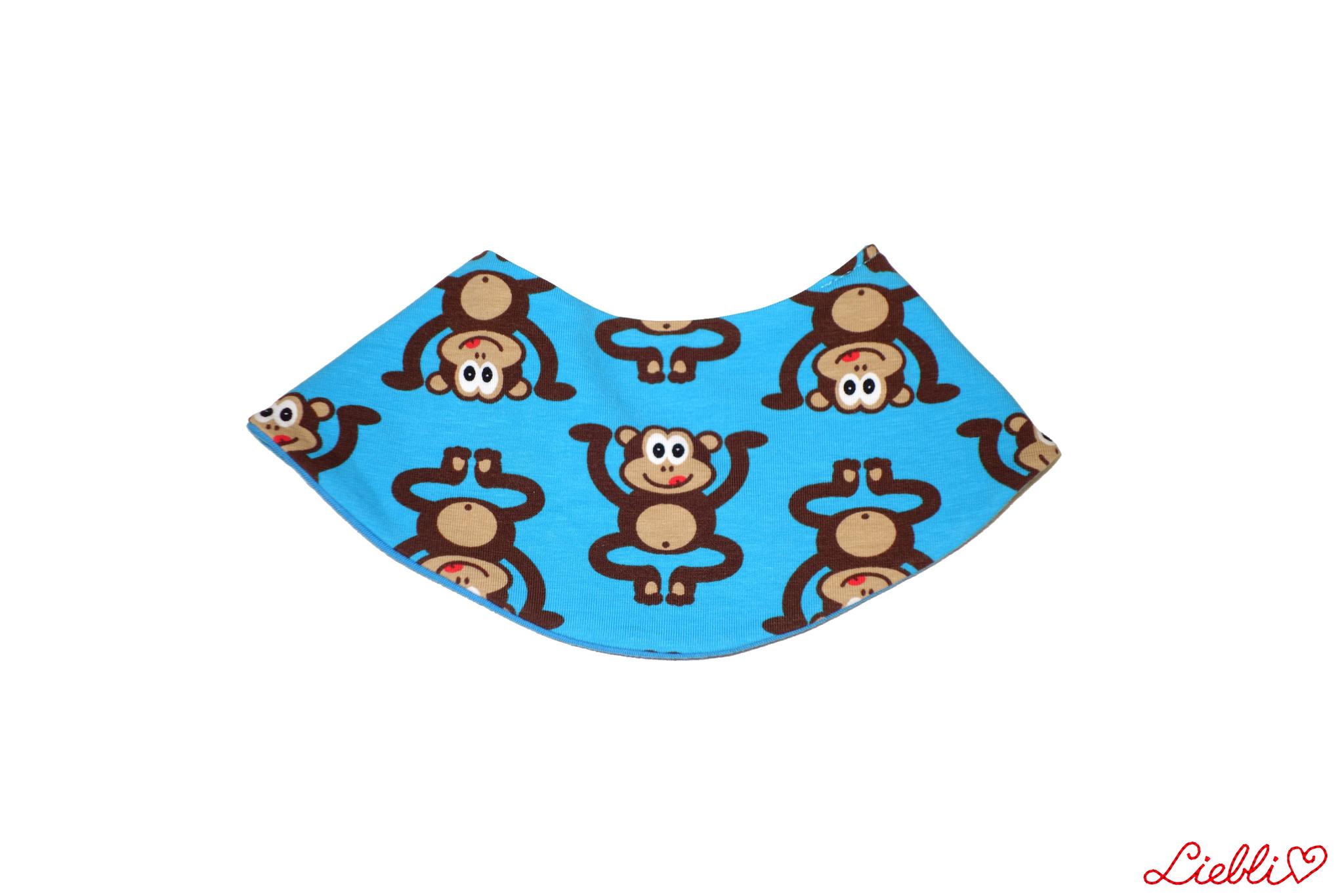 Dreieckstuch Affen auf blau