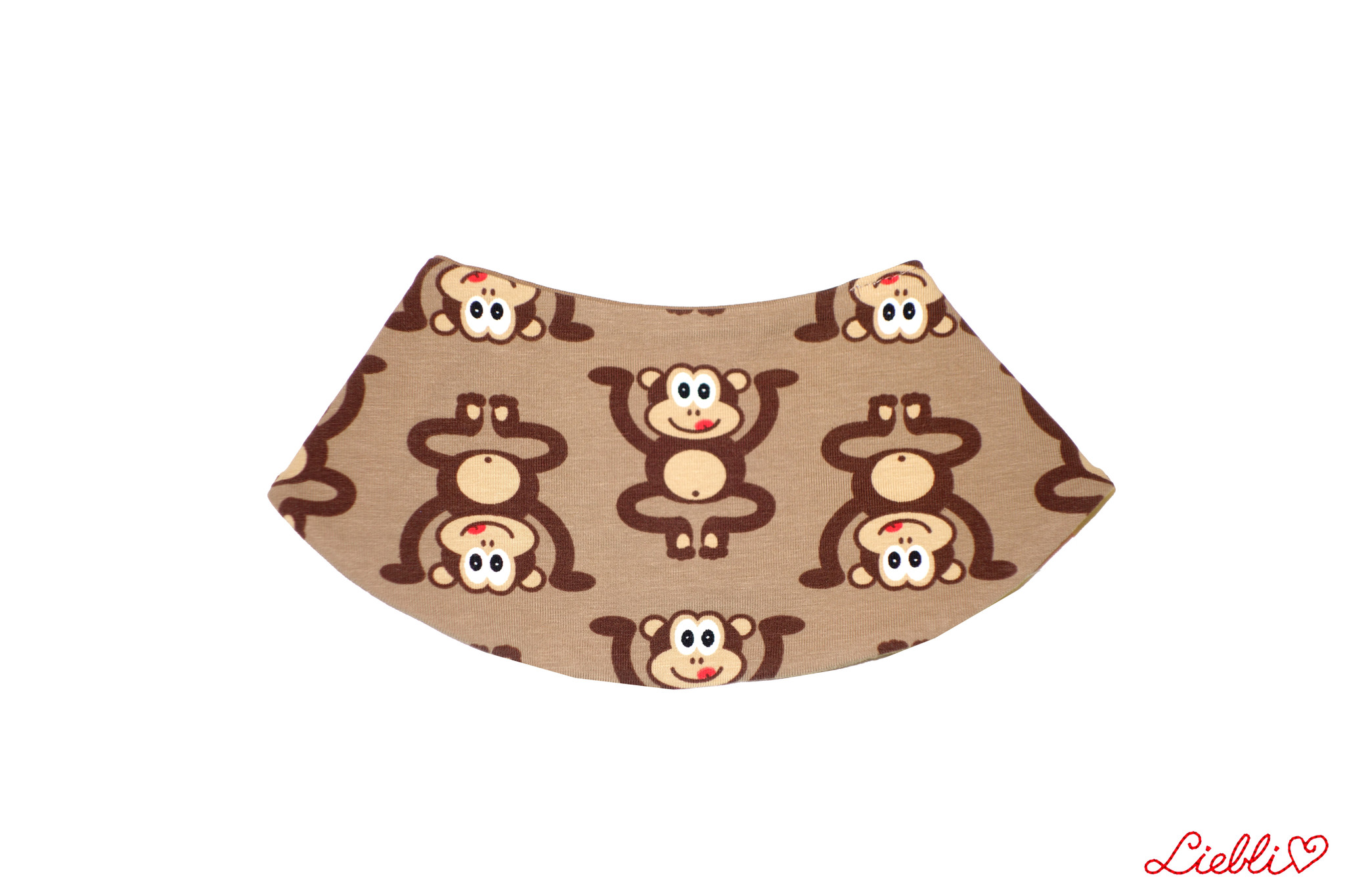 Dreieckstuch Affen auf braun