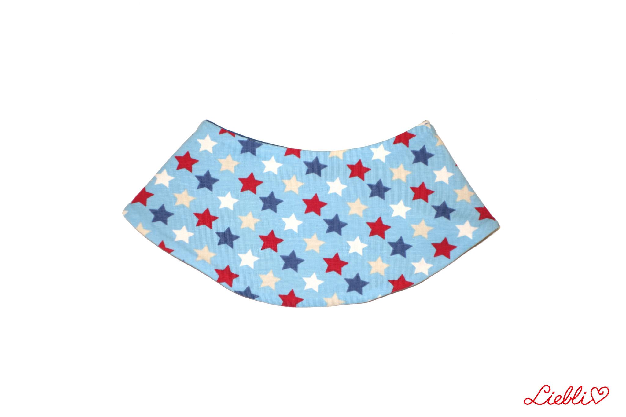 Dreieckstuch Sterne auf hellblau