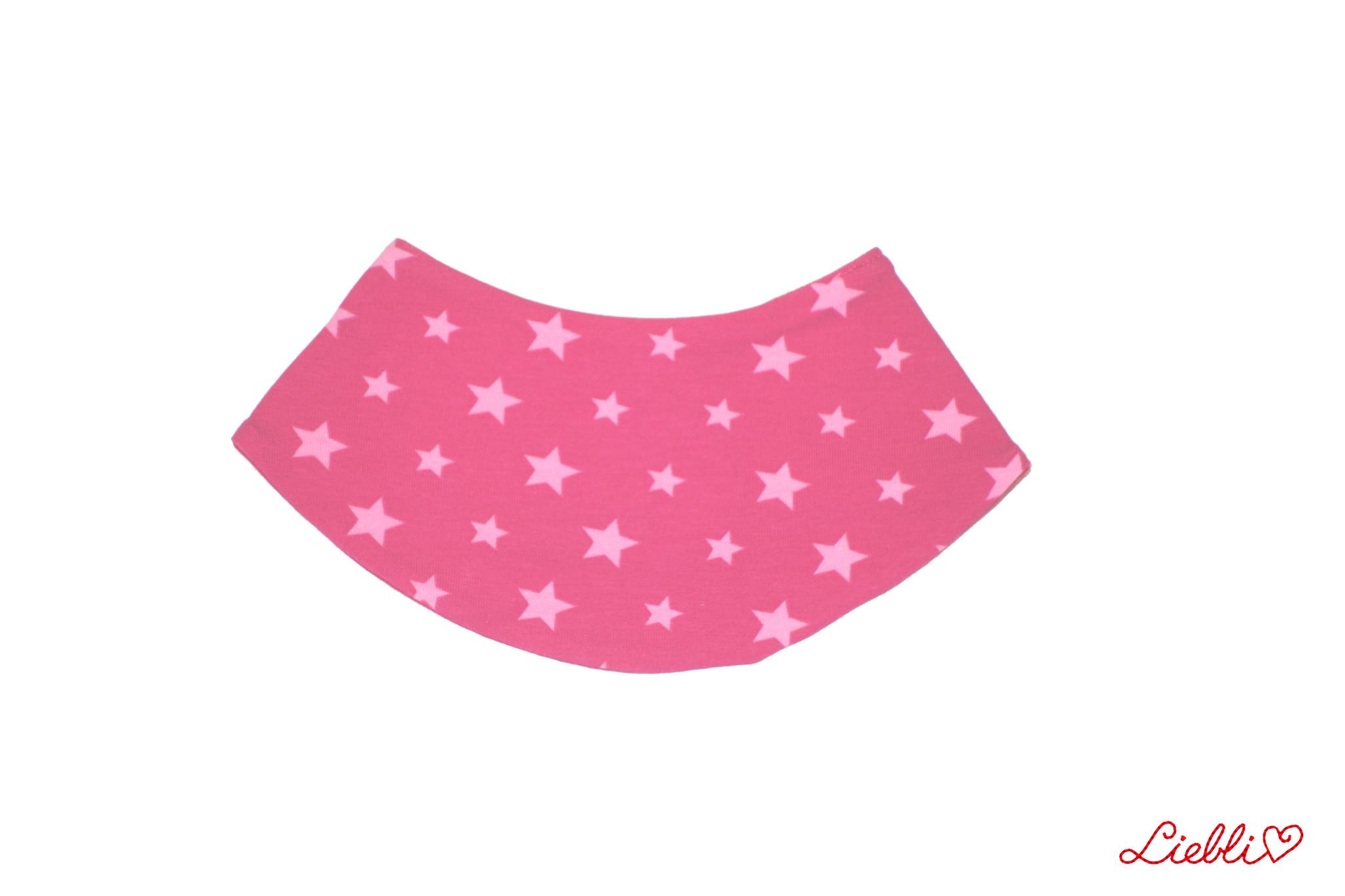 Dreieckstuch Sterne pink-rosa