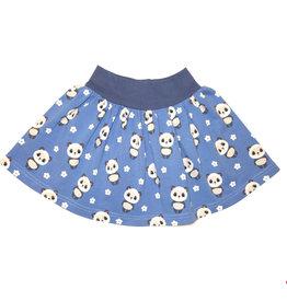 Minirock, Jersey Rock, Drehrock, Mädchenrock, Pandas auf blau