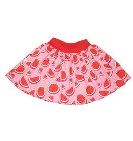 Minirock, Jersey Rock, Drehrock, Mädchenrock, Wassermelone rosa