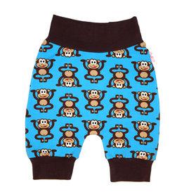 Babyhose / Pumphose, Affen auf blau, 56, 62, 68