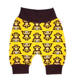 Babyhose / Pumphose, Affen auf gelb, 56, 62, 68