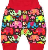 Bunte Babyhose / Pumphose Elefanten, Gr. 56, 62, 68