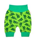 Bunte Babyhose / Pumphose Krokodil grün,  Gr. 56, 62, 68