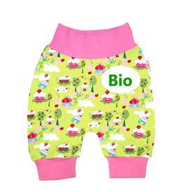 BIO Babyhose / Pumphose, Muffins hellgrün rosa  , 56, 62, 68