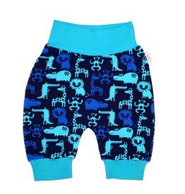 Babyhose / Pumphose, Zootiere blau türkis Gr. 56, 62, 68
