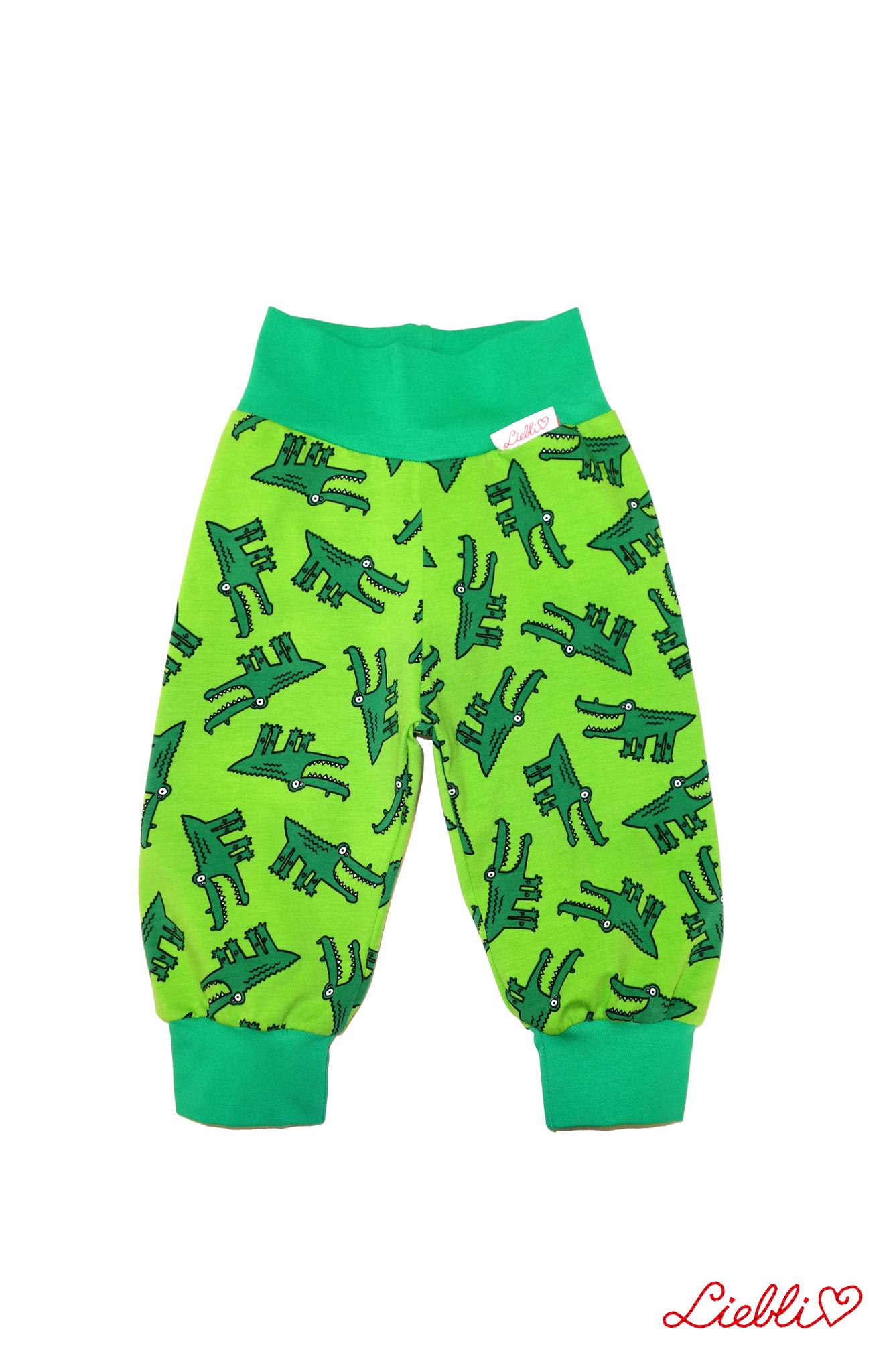Kinderhose Krokodil grün