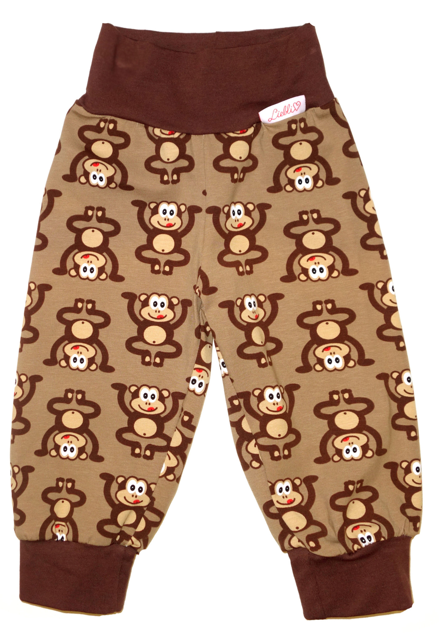 Kinderhose Affen braun
