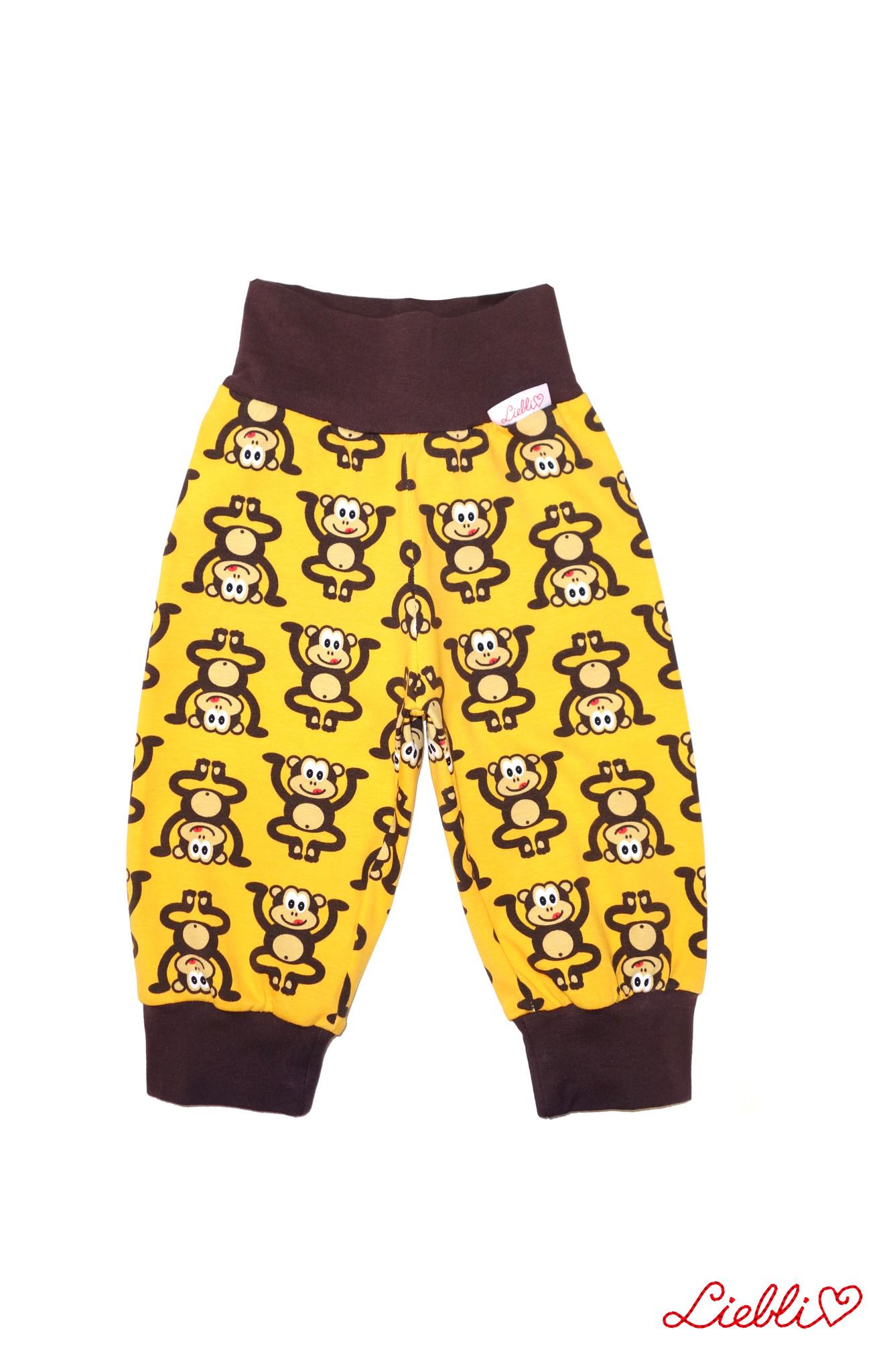Kinderhose Affen gelb