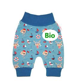 BIO Babyhose / Pumphose, Süße Piraten-Tierchen, mint-petrol,56, 62, 68
