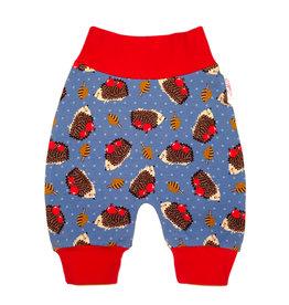 Babyhose / Pumphose, Igel blau rot braun