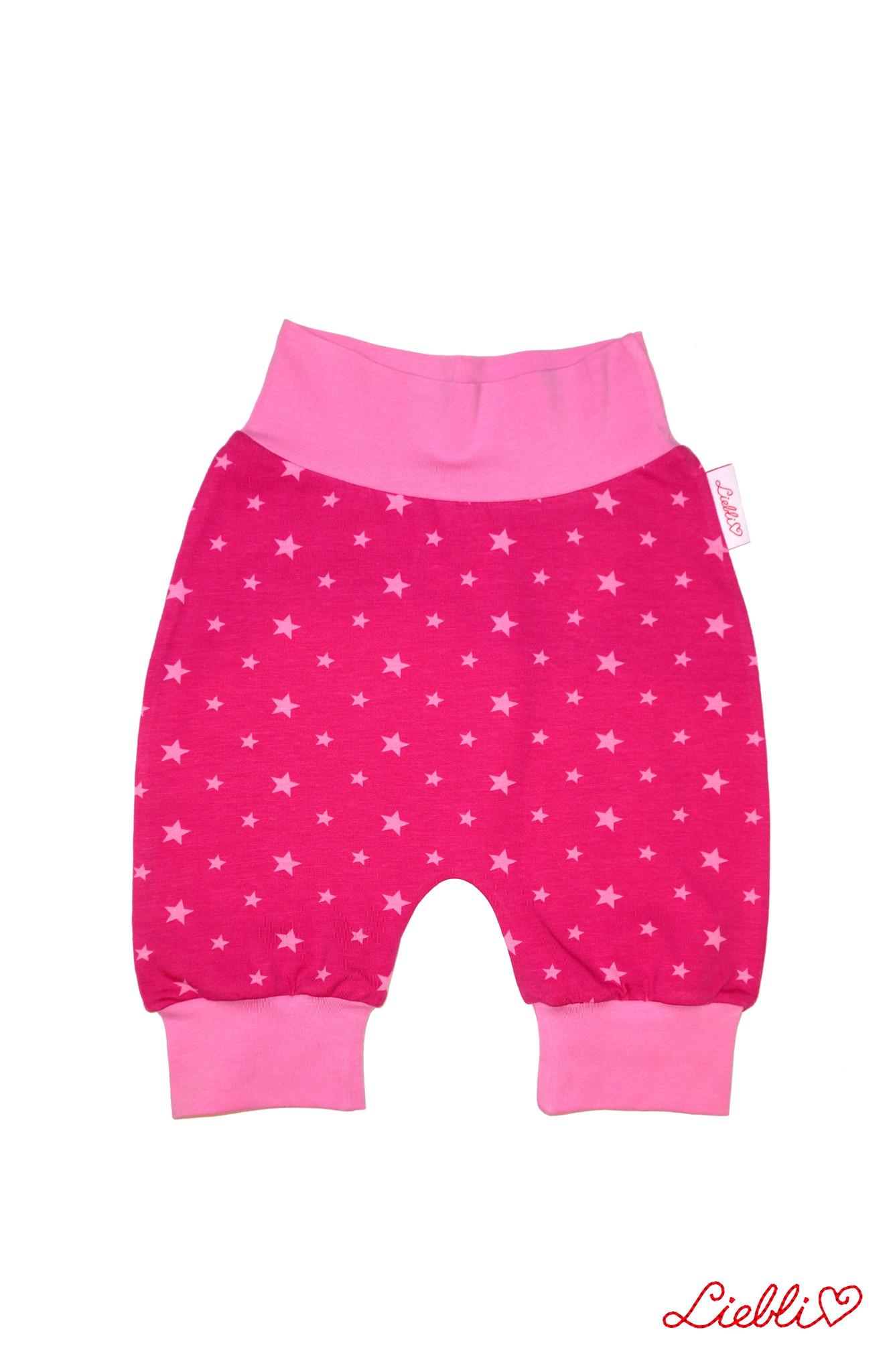 Babyhose / Pumphose, Sternchen pink rosa