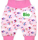 BIO Babyhose / Pumphose, kleine Vögel auf rosa