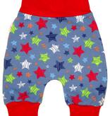 Babyhose / Pumphose, Sterne blau rot grün