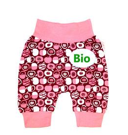 BIO Babyhose / Pumphose, Äpfel rosa bordeaux
