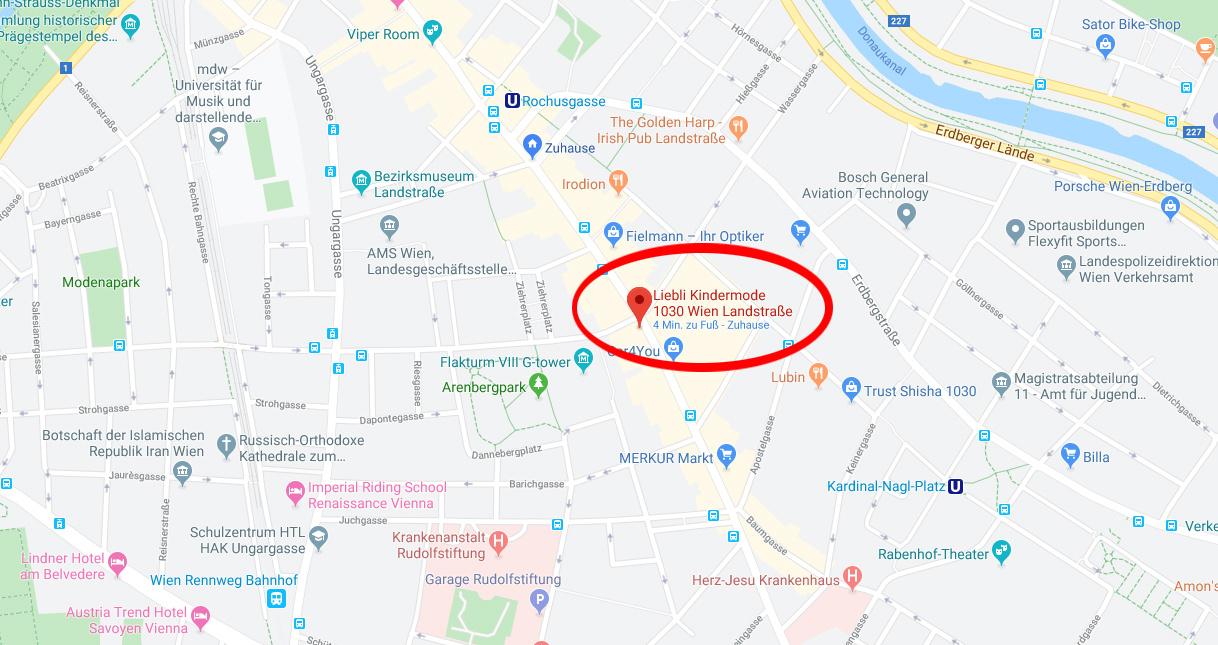 Google Maps Liebli Kindermode Babymode Kinderkleidung Babykleidung Babygeschenke Geburtsgeschenke1030 Wien Landstraße