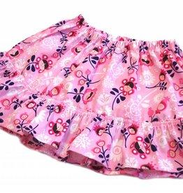 Minirock / Mädchenrock, Blumen, rosa, 92-104 (2-4 Jahre)