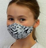 Waschbare, wiederverwendbare Stoffmaske, Mund-Nasen Maske, Kindermaske,  Panda schwarz-weiß