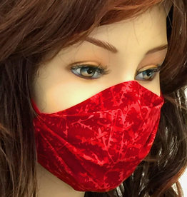 Schöne  Stoffmaske, hübsche Modemaske  rot