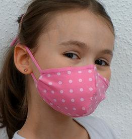 Kindermaske, Stoffmaske, Mund-Maske Punkte rosa