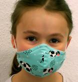 Schöne Stoffmaske, bunte Kindermaske, Kühe mint (auch in Erwachsenen Größen)