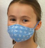 Stoffmaske für Kinder und Erwachsene, Anker hellblau