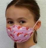 Stoffmaske für Kinder und Erwachsene, Glückspilz rosa
