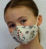 Stoffmaske für Kinder und Erwachsene, Katzen beige