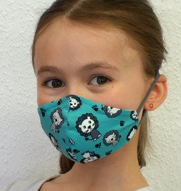 Kindermaske, Stoffmaske, Mund-Maske Löwen türkis