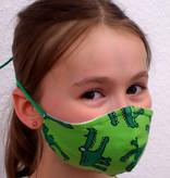 Kindermaske, Kinder Mundschutz, Mund-Nasen-Maske Krokodil grün