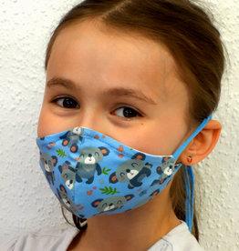 Kindermaske, Stoffmaske, Mund-Maske Koalabär hellblau